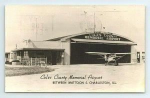 1960s Coles County Memorial Airport Cessna Plane Illinois Postcard