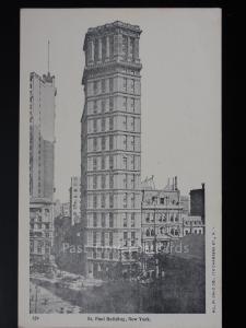 USA: NEW YORK CITY - St. Paul Building c1905 UB