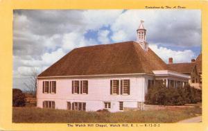 Watch Hill Rhode Island~Chapel~1940s Early Dexter Chrome Postcard