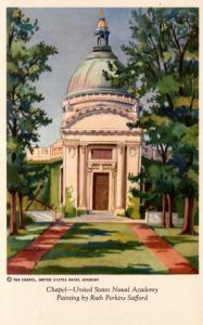 Maryland Annapolis U S Naval Academy Chapel Painting By Ruth Perkins Safford