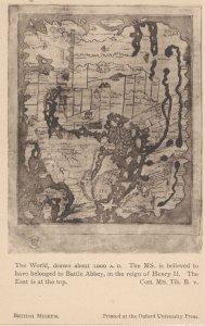 King Henry II Battle Abbey Map 1000AD Antique London Postcard