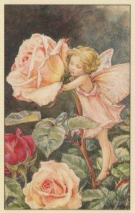 Rose Fairy Flower Fairies from WW2 Book Stunning Postcard
