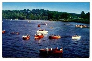 NH - Weirs, Lake Winnipesaukee. Classic Boats