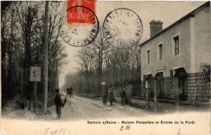 CPA SAMOIS-sur-SEINE - Maison Forestiere et Entrée de la Foret (638850)