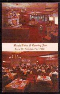 Pa Paradise Dutch Town & Country Inn 1971