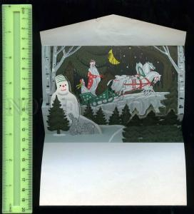256024 NEW YEAR DED MOROZ Snowman TROYKA HORSES MECHANICAL PC