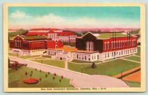 Columbus Ohio~Ohio State University Gymnasium Birdseye View~1945 Postcard