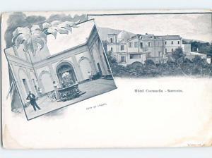 Pre-1907 HOTEL SCENE Sorrento Italy F5200