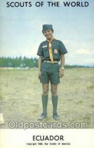 Ecuador Boy Scouts of America, Scouting Postcard, Post Cards, Copyright 1968 ...