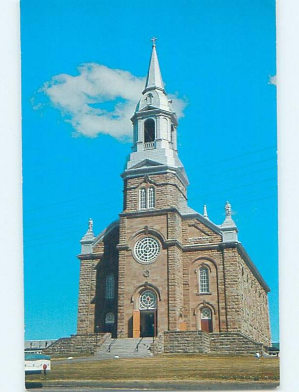 Unused Pre-1980 CHURCH SCENE Cheticamp On Cape Breton Nova Scotia NS G3622
