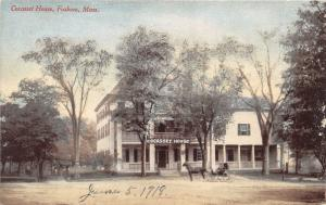Foxboro Massachusetts~Cocasset House~Horse Carriage in Front~1918 Postcard