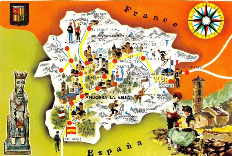 BR42683 andorra la vella map cartes geographiques HipPostcard