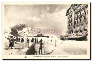 Superbagneres Old Postcard Front of & # 39hotel