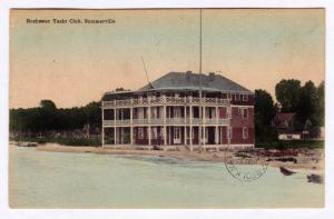 1909 Rochester Yacht Club Summerville New York NY Hand Colored RARE UDB Boating