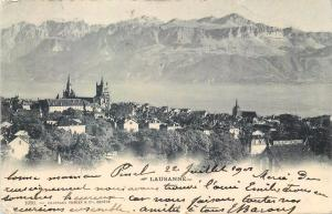 Switzerland Suisse Lausanne panorama 1901