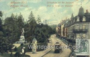 Mulhouse Germany, Deutschland Postcard Palce du Tivoli avec Monument Mulhouse...