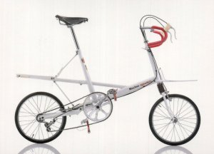 Alex Moulton Speedsix UK British 1995 Bicycle Bike Cycle Postcard