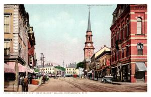 New Hampshire Portsmouth , Congress street near Market Square