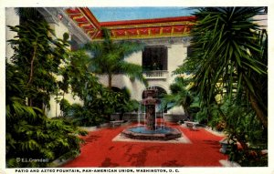 Washington D.C. - Patio & Aztec Fountain, Pan-American Union - c1930