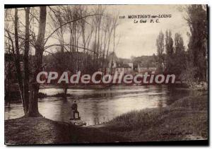 Old Postcard Montigny sur Loing river