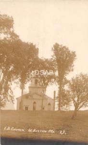 A4/ West Buxton Maine Me RPPC Real Photo Postcard c1910 F.B. Church