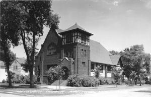 Pipestone Minnesota~Methodist Church~Sign in Yard~1940s Real Photo Postcard