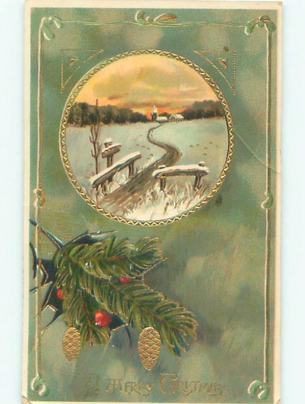 Divided-Back CHRISTMAS SCENE Great Postcard AA0369