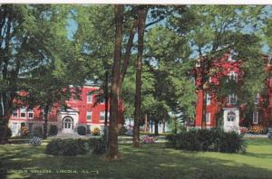 Illinois Lincoln View Of Lincoln College