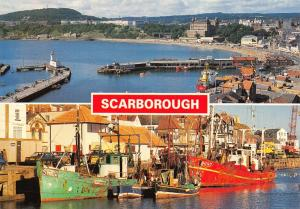 Postcard SCARBOROUGH Habour, Multiview North Yorkshire D14