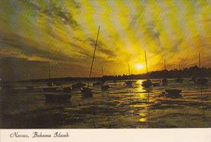 Sunset Over Harbor Nassau Bahamas