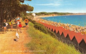Vintage Dorset Postcard, Avon Beach from Cliff Walk, Mudeford FO6