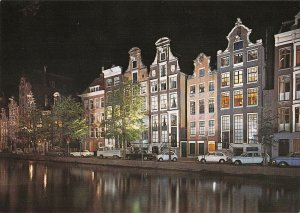 B108766 Netherlands Holland Kaizersgracht with Old Gables Cars Voitures