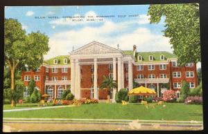 Postcard Unused Biloxi Hotel MS LB