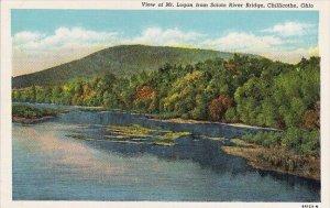 View Of Mount Logan From Scioto River Bridge Chillicothe Ohio