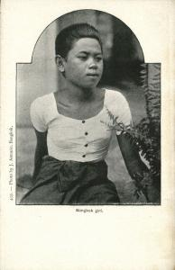 siam thailand, BANGKOK, Native Young Girl (1899)