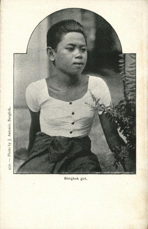 siam thailand, BANGKOK, Native Young Girl (1899)