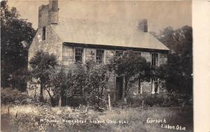 E70/ Lisbon Ohio RPPC Postcard Columbiana County 1908 McKinley Homestead