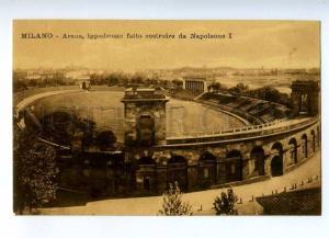 192670 ITALY MILANO Napoleone I hippodrome Vintage postcard