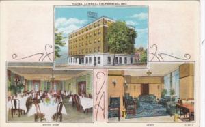Indiana Valparaiso Hotel Lembke Dining Room & Lobby Curteeich