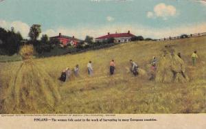 Internatinal Harvester AD postcard , farming in FINLAND , 00-10s