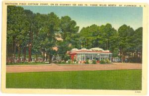Southern Pines Cottage Courts, Highway 301 & 76, 3 Miles N of Florence, SC, Lin
