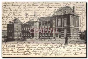 Belgie Belgium Postcard Old Morlanweiz Middle School