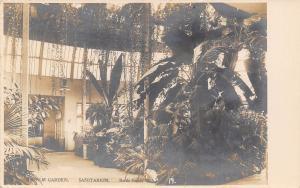 Battle Creek I'm Here Where They Have Concerts~Sanitarium~Palm Garden RPPC c1910
