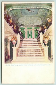 Boston MA~Keith's Vaudeville Theatre~Grand Staircase to Tremont Street~c1905