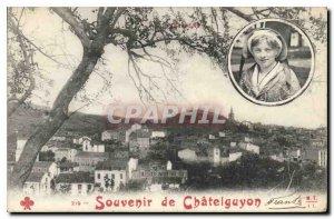 Old Postcard Remembrance Chatelguyon Folklore