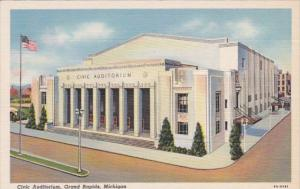 Michigan Grand Rapids Civic Auditorium Curteich