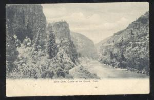 CANON OF THE GRAND COLORADO ECHO CLIFFS VINTAGE POSTCARD 1906