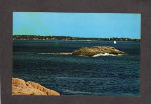 MA Norman's Woe Beach Rock Formation Magnolia Mass Massachusetts Postcard