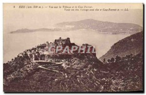 Old Postcard View Of The Eze Village and Cap Ferrat