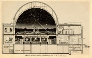 NY - New York City. Hayden Planetarium. Cross-section of the Building   (Astr...